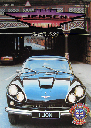 Our Jensen CV8 Featured on the Front Cover of The Jensen Owners club for the 25th AnniversaryAnniversary Issue. John Neville Cohen