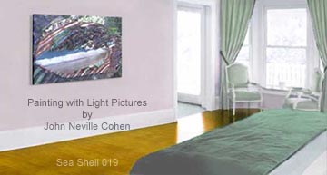 Sea Shell, a picture by John Neville Cohen, in a bedroom.
