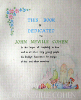Dedication to John Neville Cohen, postage stamp collecting for little people.