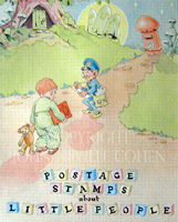 Postage Stamp album for little people, collecting in an original way.  John Neville Cohen