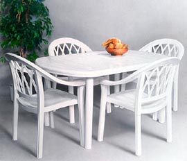 Promotional Photography of a table and 4 chairs, but only one chair was available, by John Neville Cohen